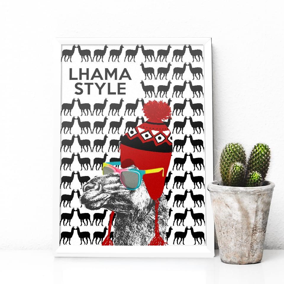 Quadro Lhama Style